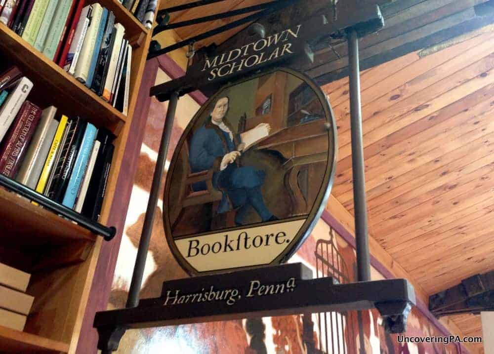 Visiting the Midtown Scholar Bookstore in Harrisburg, Pennsylvania.