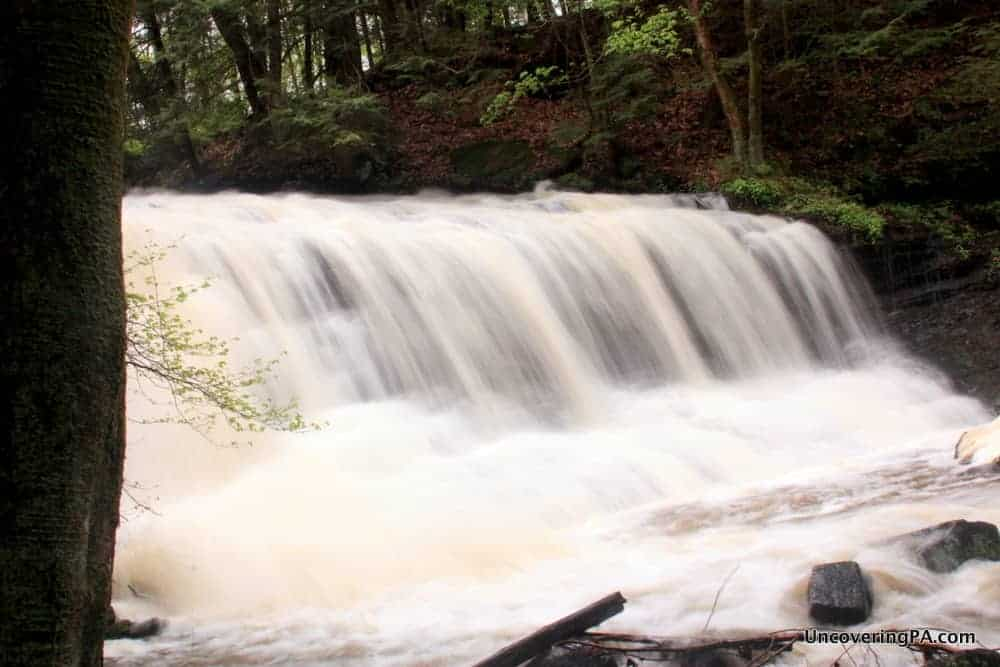 Pennsylvania Waterfalls: Visiting Springfield Falls in Mercer County, Pennsylvania.
