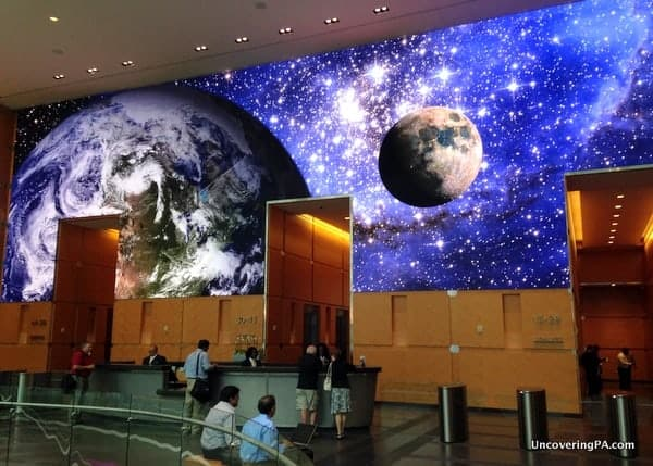 The Comcast Experience HD Video Wall in Philadelphia, Pennsylvania.