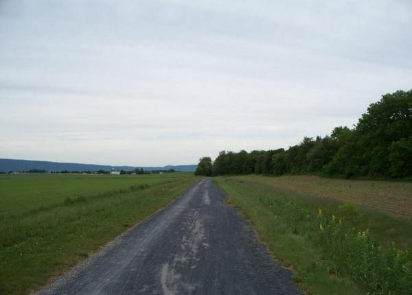 A portion of the Cumberland Valley Rail Trail.