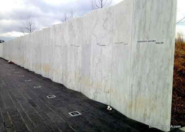 Visiting the Flight 93 Memorial near Somerset, Pennsylvania.