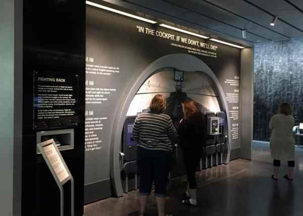 Inside the visitor center at the Flight 93 National Memorial in Somerset County, Pennsylvania.