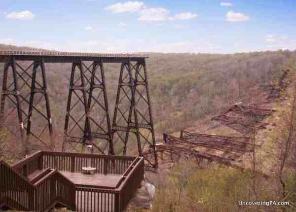 Visiting Kinzua Bridge State Park in McKean County, Pennsylvania.