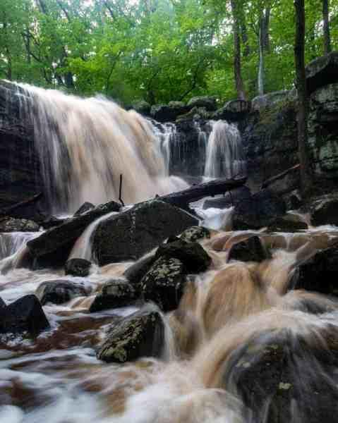 High Falls at Ringing Rocks County Park in Bucks County, PA