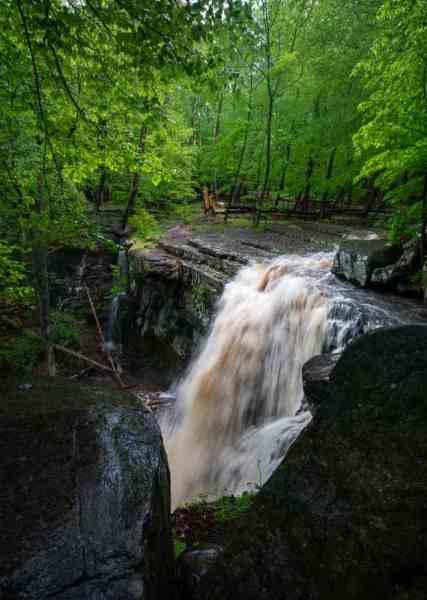 High Falls in Ringing Rocks County Park in Upper Black Eddy, Pennsylvania