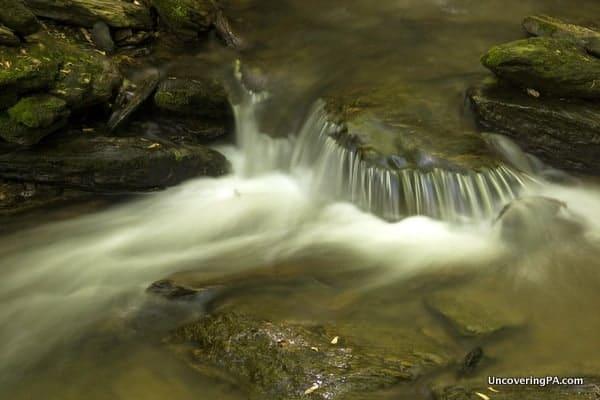 A small cascade along Mill Creek and the Mason-Dixon Trail in York County, Pennsylvania.