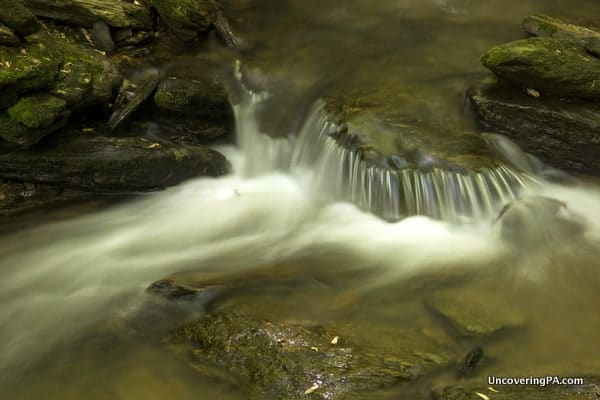 A small cascade along Mill Creek and the Mason-Dixon Trail in York County, Pennsylvania.