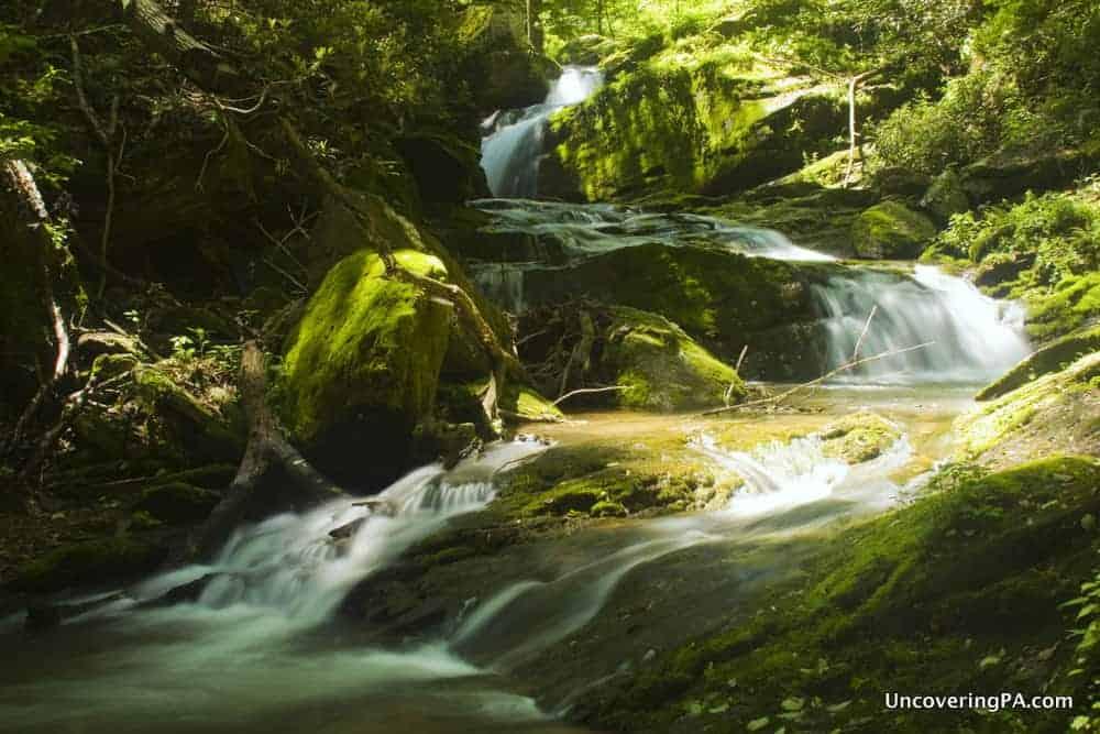Pennsylvania Waterfalls: Mill Creek Falls in York County, Pennsylvania.