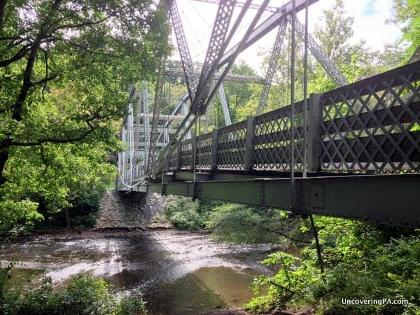 The historic Waterville Bridge spans Swatara Creek and is the crossing point for the Appalachian Trail.