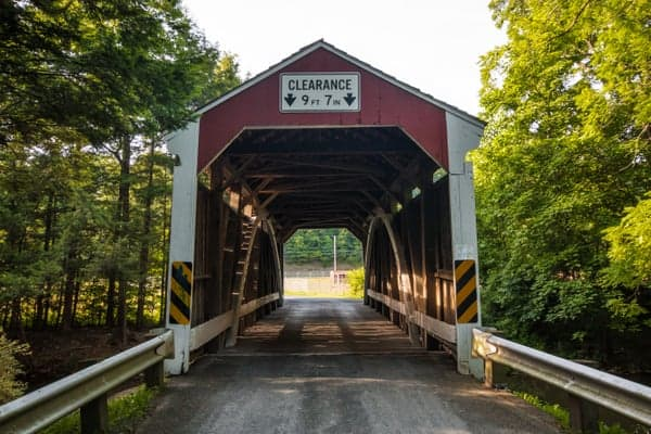 Visiting Zimmerman Covered Bridge in Rock, Pennsylvania