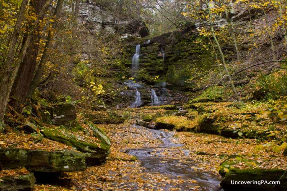 Visiting Bowman Hollow Falls in Wyoming County, Pennsylvania