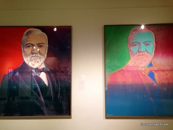 Andy Warhol's painting of Andrew Carnegie which hangs in the Carnegie Museum of Art in Pittsburgh, Pennsylvania.