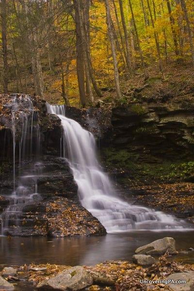 Dry Run Falls during fall in Pennsylvania.