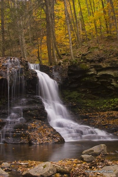 Dry Run Falls during fall in Pennsylvania.