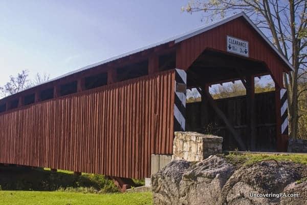 Gross Covered Bridge in Snyder County, Pennsylvania.