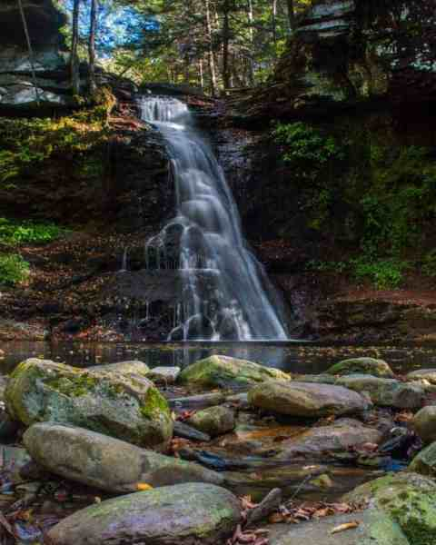 How to get to Sullivan Falls in State Game Lands 13 in the Endless Mountains of Pennsylvania.