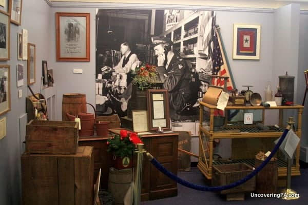 Items from the hardware store owned by Jimmy Stewart's father on display at the Jimmy Stewart Museum in Indiana County, Pennsylvania.