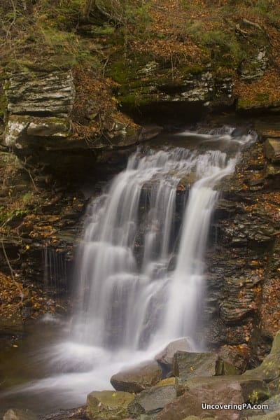How to get to Big Run Falls in State Game Lands 13, Sullivan County, Pennsylvania.