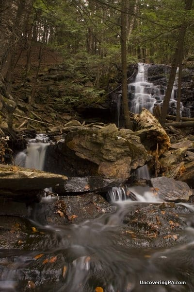How to get to Dutchman Falls along the Loyalsock Trail in Sullivan County, Pennsylvania.