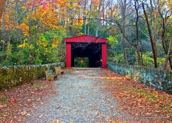 How to get to the covered bridge in Philadelphia, Pennsylvania