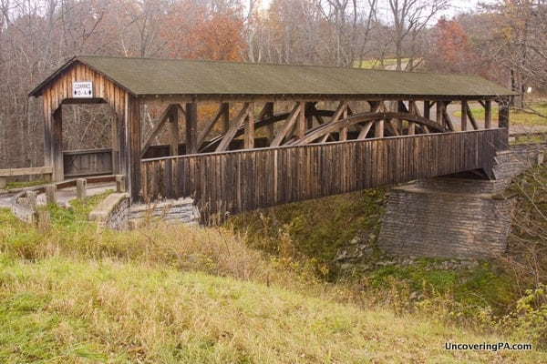 How to get to Knapp Covered Bridge near Towanda, Pennsylvania.
