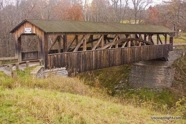 How to get to Knapp Covered Bridge near Towanda, Pennsylvania.