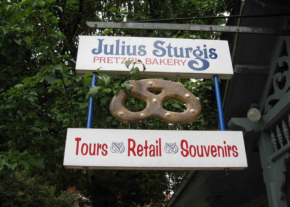 Touring the Julius Sturgis Pretzel Factory in Lititz, Pennsylvania.