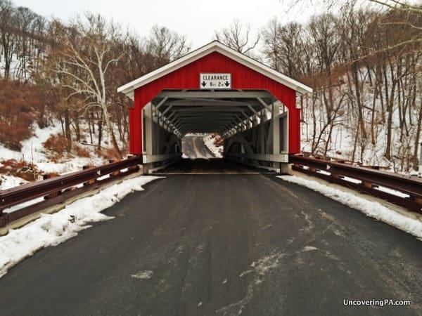 Schlicher's Covered Bridge in Lehigh County, Pennsylvania's Trexler Nature Preserve