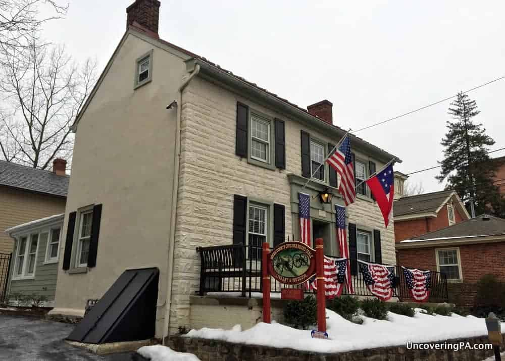 Visiting the Bucks County Civil War Museum in Doylestown, Pennsylvania.