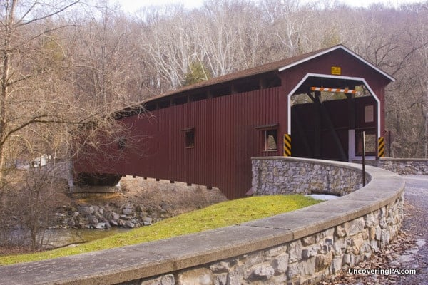 How to get to Colemanville Covered Bridge in Lancaster County, Pennsylvania.