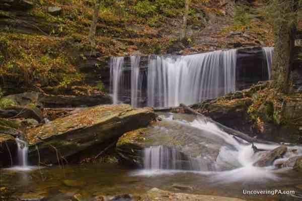 Delaware Falls in Ricketts Glen State Park in PA