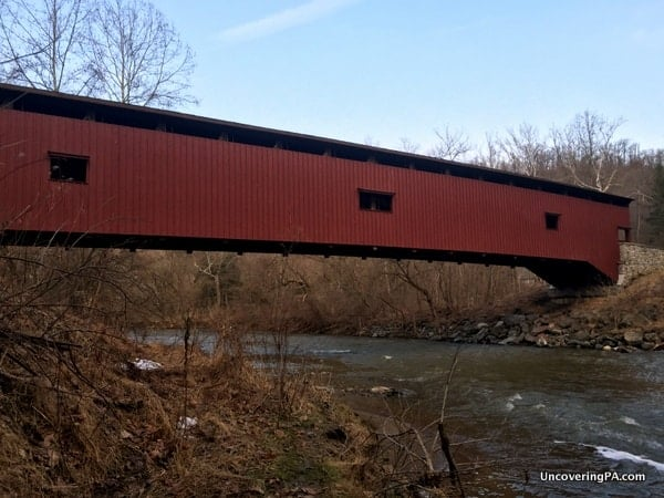 Colemanville Covered Bridge crossing the Pequea Creek in Lancaster County, PA.