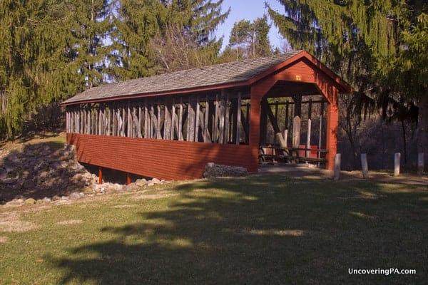 Harrity Covered Bridge in Beltzville State Park
