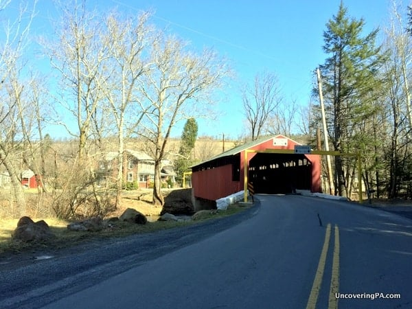 Little Gap Covered Bridge in Carbon County, Pennsylvania