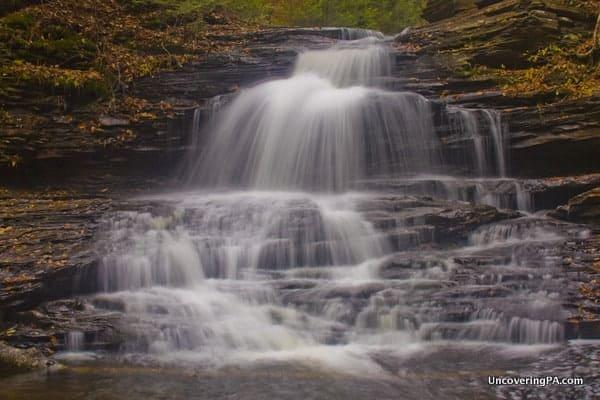 Onondaga Falls in Ricketts Glen State Park in Pennsylvania