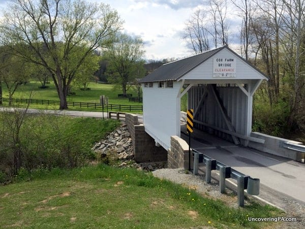 How to get to Cox Farm Covered Bridge in Greene County, PA