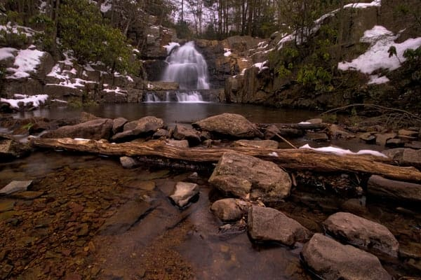 Hawk Falls in Hickory Run State Park in the Pennsylvania Poconos