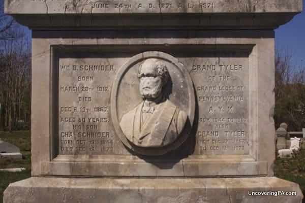William B. Schneider's gravestone in Mount Moriah Cemetery.
