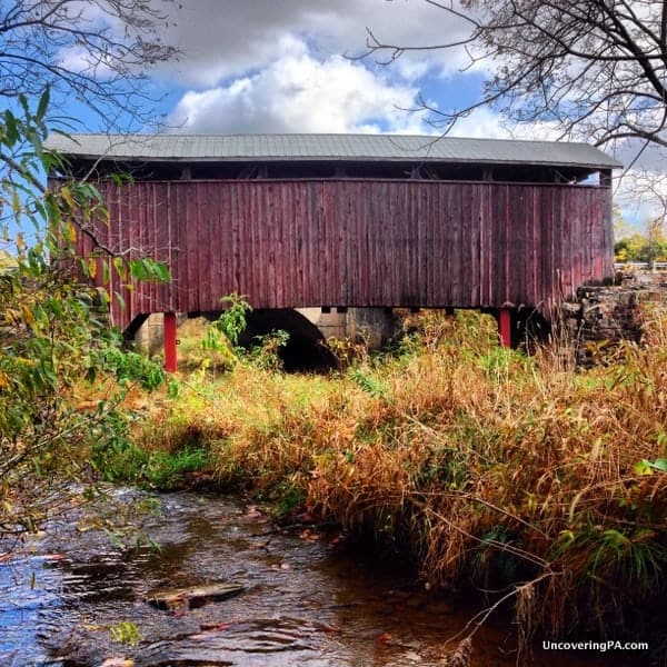 Red Covered Bridge near Liverpool, Pennsylvania.