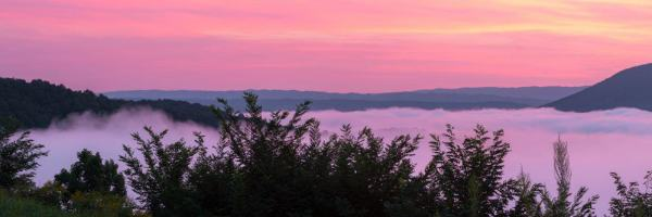 Things to do at Raystown Lake: Sunrise at Ridenour Overlook