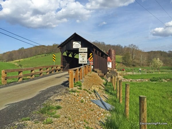 How to get to Shriver Covered Bridge in Greene County PA