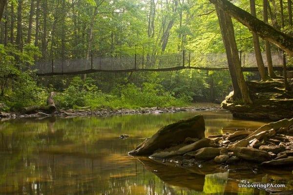 Hiking in Trough Creek State Park, Pennsylvania
