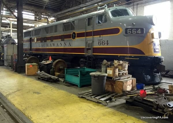 Engine Shop Tour at Steamtown National historic Site in Scranton PA