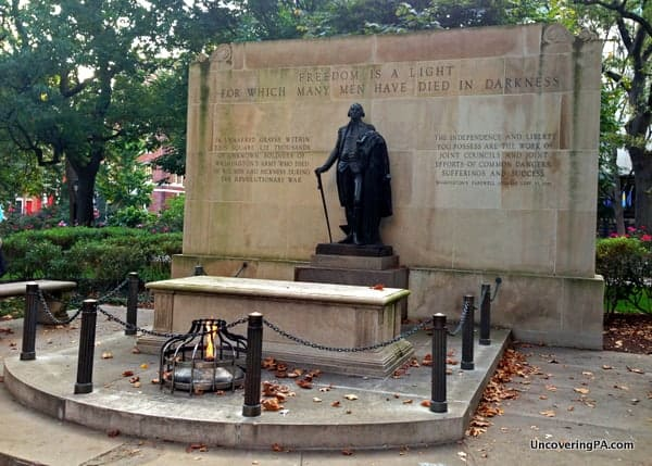 Tomb of the Unknown Revolutionary War Soldier in Philadelphia, Pennsylvania