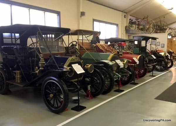 Antique automobiles at the Swigart Museum in Huntingdon, PA