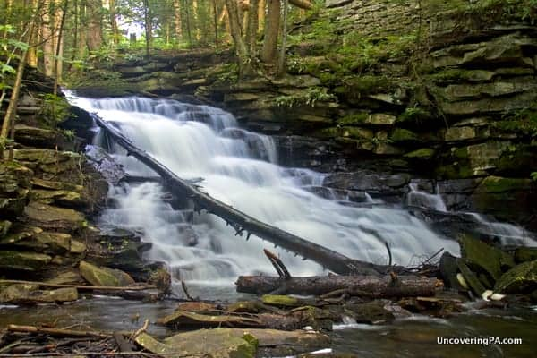 How to get to McElhattan Falls in Clinton County, PA