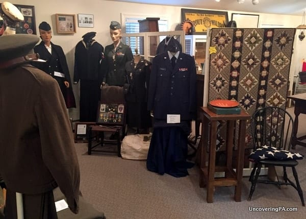 Military Items in the Muncy Historical Society in Lycoming County PA