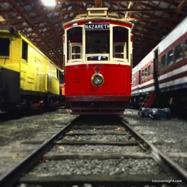 Restored Trolleys at the Rockhill Trolley Museum