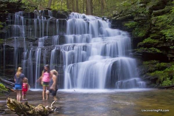 Rosecrans Falls in Loganton, Pennsylvania.