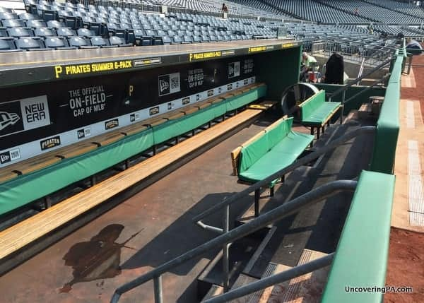 Pittsburgh Pirates Dugout on Tour of PNC Park